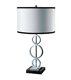 Ore International™ 3 Ring Metal Table Lamp With Convenience Outlet