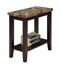 Ore International™ Traditional Marble Print End Table