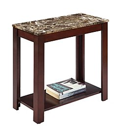 Ore International ™ Traditional Marble Print End Table