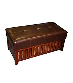 Ore International™ Cushion Storage Wooden Bench