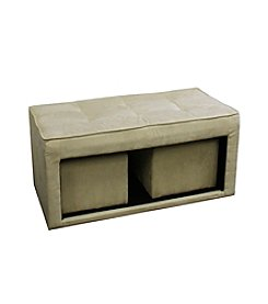 Ore International™ Storage Ottoman with Two Hidden Seatings