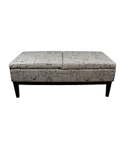 Ore International™ Old World Dual Lift Storage Bench