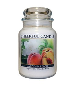 A Cheerful Giver Gardenia Peach Candle