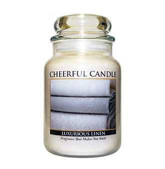 Cheerful Candle Luxurious Linen Candle