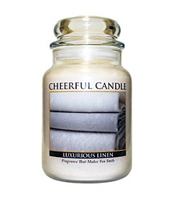 A Cheerful Giver Luxurious Linen Candle