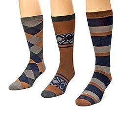 MUK LUKS 3-Pack Men's Crew Socks