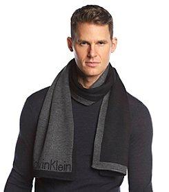 Calvin Klein Men's Jacquard Knit Logo Muffler