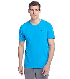 PUMA® Men's Short Sleeve V-Neck Stripe Tee