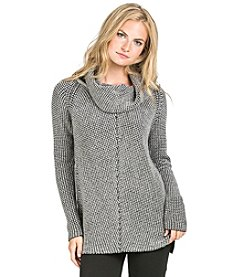 PLY Cashmere® Knit Tuck Cowl Neck Pullover