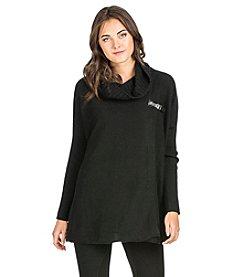 PLY Cashmere® Sideways Rib Turtleneck Closure Pullover