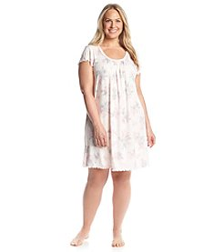 Miss Elaine® Short Sleeve Night Gown