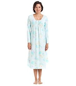Miss Elaine Printed Long Sleeve Nightgown