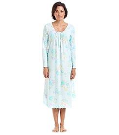 Miss Elaine Printed Long Sleeve Nightgown