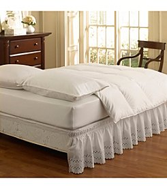 Easy Fit™ Wrap Around Eyelet Ruffled Bed Skirt