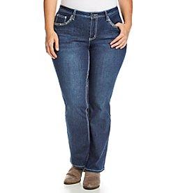 Earl Jean® Plus Size Criss Cross Flap Pocket Bootcut Jeans