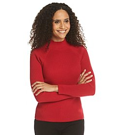 Studio Works® Petites' Ribbed Mockneck Sweater