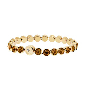 Upc 796483193185 Product Image For Michael Kors Goldtone Whiskey Round Cut Tennis Bracelet Upcitemdb