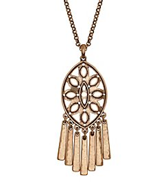 Lucky Brand® Goldtone Openwork Pendant Necklace