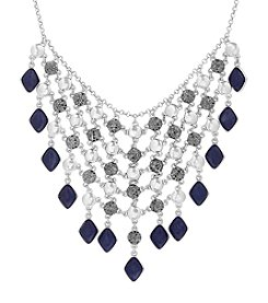 Lucky Brand® Silvertone Lapis Statement Necklace