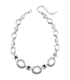 Napier® Silvertone Linked Collar Necklace