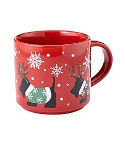 John Bartlett Pet Holiday Scottie Mug