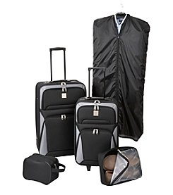 Relativity® Black Expandable 5-pc. Luggage Set
