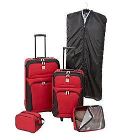 Relativity® Red Expandable 5-pc. Luggage Set