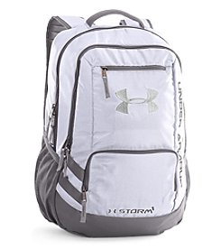 Under Armour® Hustle White Backpack