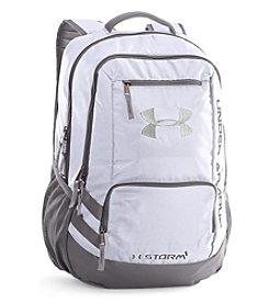 Under Armour® Hustle White Backpack