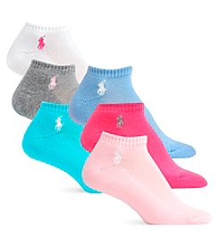 Polo Ralph Lauren® 6-Pack Cushion Sole with Mesh Top Pastel Colors Low-Cut Socks