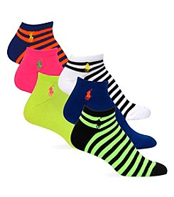 Polo Ralph Lauren® 6-Pack Stripe Mix Pattern Ped Socks