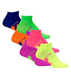 Polo Ralph Lauren® 6-Pack Big Pony Player Knit In Sole Ped Socks