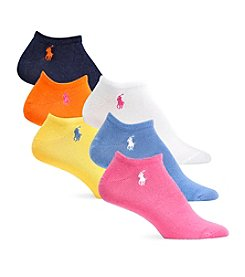 Polo Ralph Lauren® 6-Pack Ultra Low Flat Knit Ped Socks