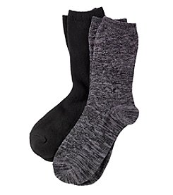 Relativity® 2-Pack Chevron Texture Socks