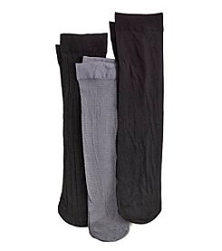 Relativity® 3-Pack Zigzag Trouser Socks