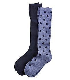 Relativity® 2-Pack Polka Dot Socks