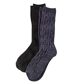Relativity® 2-Pack Mid Calf Socks