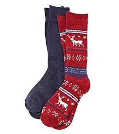 Relativity® 2-Pack Fair Isle Socks