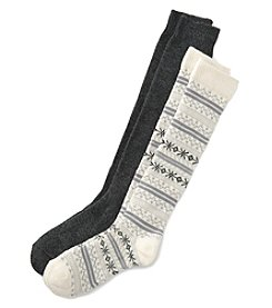 Relativity® Two-Pack Fair Isle Socks