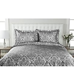 Elite Home Products Delano Damask 300-Thread Count Duvet Cover Set