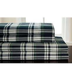 Elite Home Products Winter Nights Hutton Plaid Flannel Sheet Set