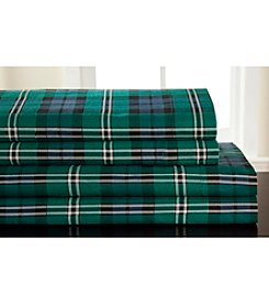 Elite Home Products Winter Nights Jackson Plaid Flannel Sheet Set