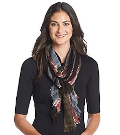 Basha Colorblock Lurex Scarf
