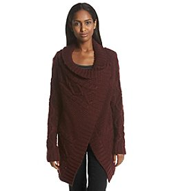 ruff hewn GREY Asymmetric Cable Sweater