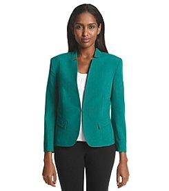 Nine West® Open Mandarin Collar Jacket