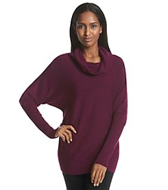 DKNYC® Cowlneck Zippered Tunic