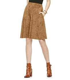 Vince Camuto® Faux Suede Midi Skirt