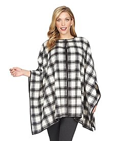 Chaus Plaid Plush Poncho