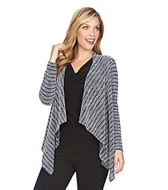 Chaus Tweed Stripe Knit Cardigan