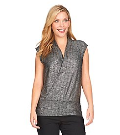Chaus Sleeveless Foiled Top